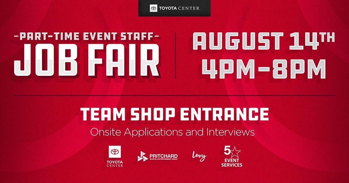 Part-Time Event Staff Job Fair | Houston Toyota Center