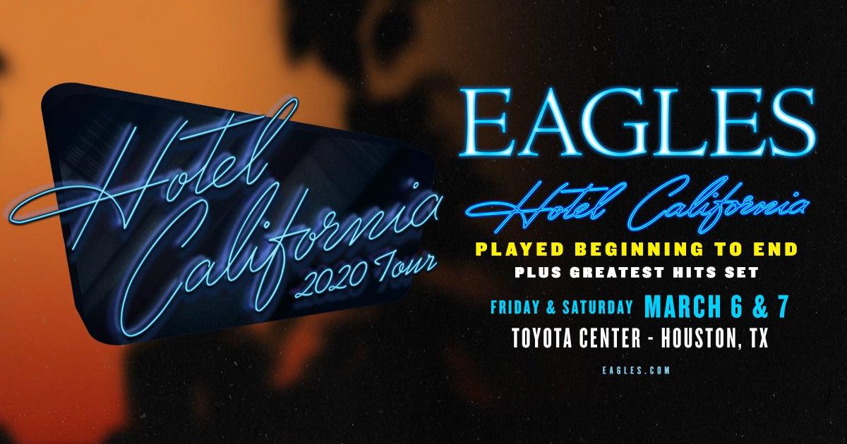 Free Houston Events August 3 2020.Eagles Houston Toyota Center