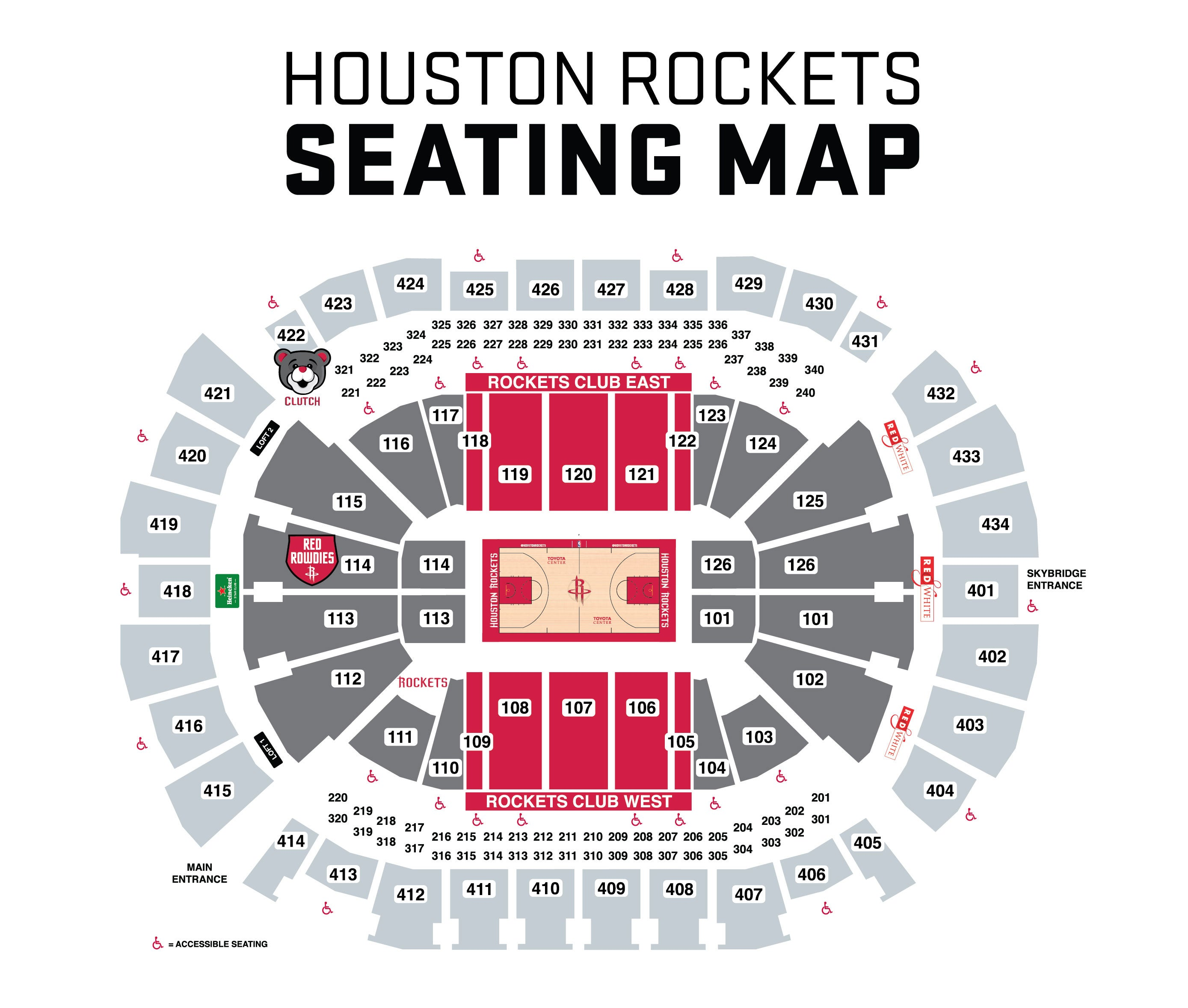 Toyota Center Seating Map Suites | Houston Rockets