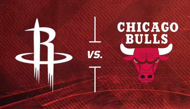 rockets vs chicago bulls houston toyota center