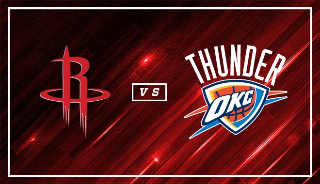 Houston Rockets Vs Oklahoma City Thunder Houston Toyota