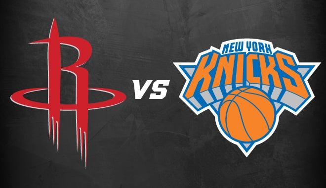Houston Rockets Vs New York Knicks Houston Toyota Center